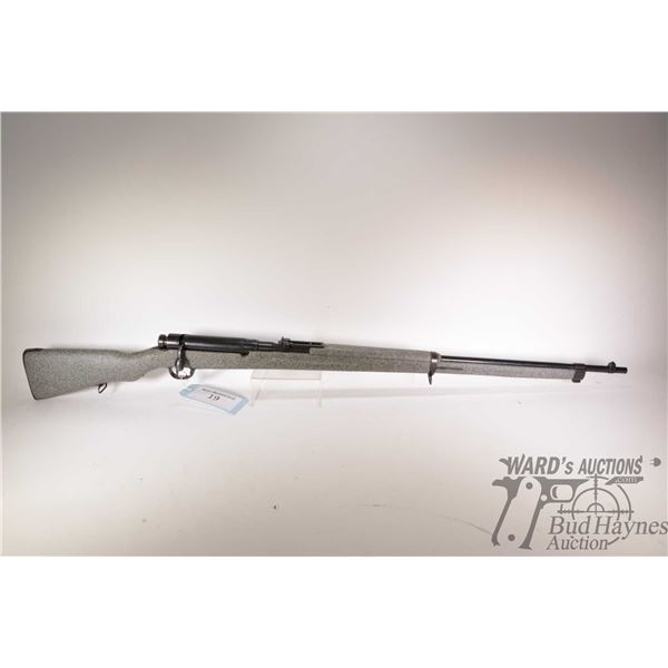 Non-Restricted rifle Arisaka model Type 38 Nagoya Arsenal, 6.5 Japanese bolt action, w/ bbl length 3