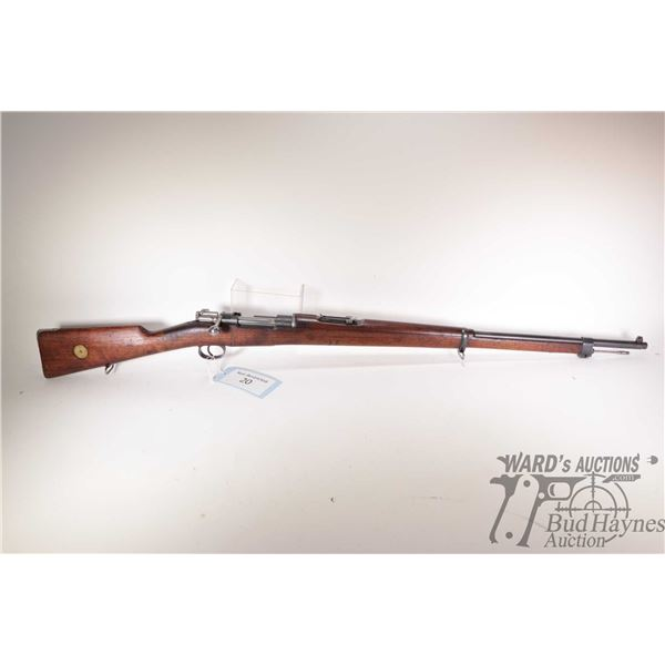"""Non-Restricted rifle Carl Gustafs model 1900, 6.5mm bolt action, w/ bbl length 29 1/2"""" [Blued barrel"""