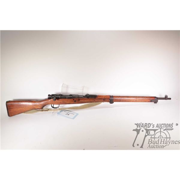 """Non-Restricted rifle Arisaka model Type 99, 7.7 Japanese bolt action, w/ bbl length 26"""" [Blued barre"""