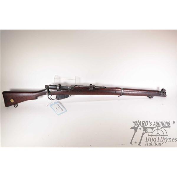 Non-Restricted rifle Lee Enfield model B.S.A 1917 SHT L.E III*, .303 Brit. bolt action, w/ bbl lengt