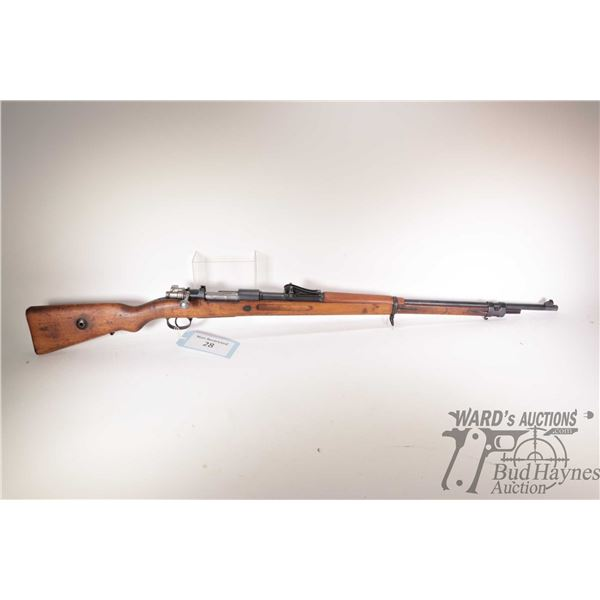 """Non-Restricted rifle Mauser model 1909, 7.65mm bolt action, w/ bbl length 29 1/2"""" [Blued barrel and"""