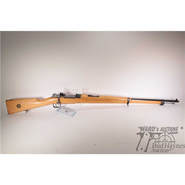 """Non-Restricted rifle Carl Gustafs model 1917, 6.5mm bolt action, w/ bbl length 29"""" [Blued barrel and"""
