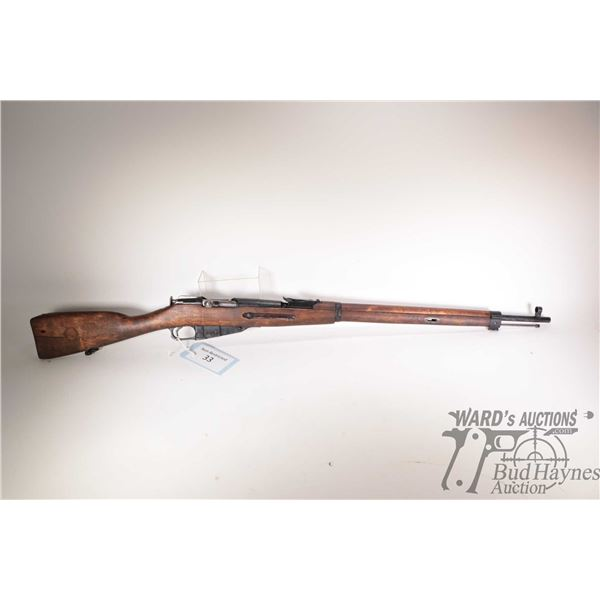 """Non-Restricted rifle Mosin Nagant model M91/30, 7.62x54r bolt action, w/ bbl length 29"""" [Blued barre"""