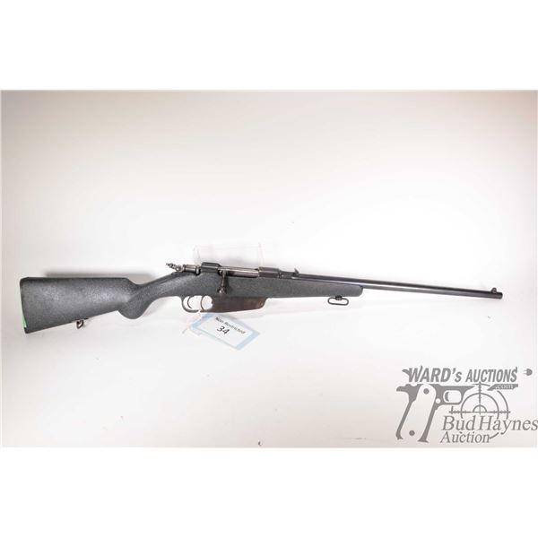 """Non-Restricted rifle Carcano 6.5mm bolt action, w/ bbl length 20 1/2"""" [Blued barrel and receiver. Fi"""