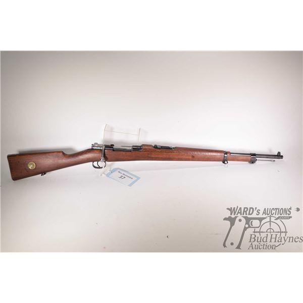 "Non-Restricted rifle Husqvarna model M38, 6.5mm bolt action, w/ bbl length 24"" [Blued barrel and rec"