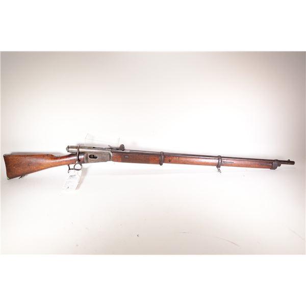 """Non-Restricted rifle Swiss Vetterli model 1868, 10.4mm bolt action, w/ bbl length 33"""" [Blued barrel"""