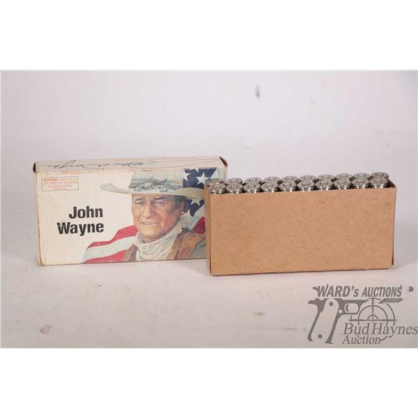 Full 20 count box of Winchester John Wayne 32-40 ammunition with Duke head stamp