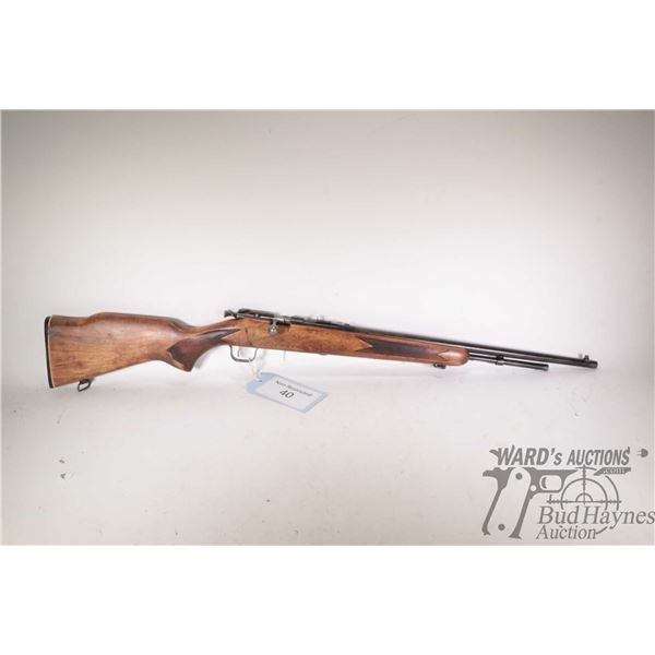 """Non-Restricted rifle Cooey model 600, .22 S, L, LR bolt action, w/ bbl length 22"""" [Blued barrel and"""
