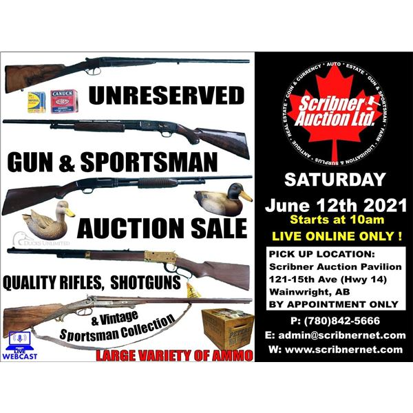 3 DAY : VINTAGE VARIETY/COIN & GUN & CONSIGNMENT AUCTION : JUNE 11-12-13 ~ 2021 LIVE ONLINE