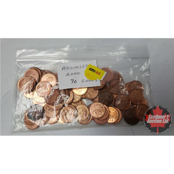 Canada One Cent (70) 2000's Assorted