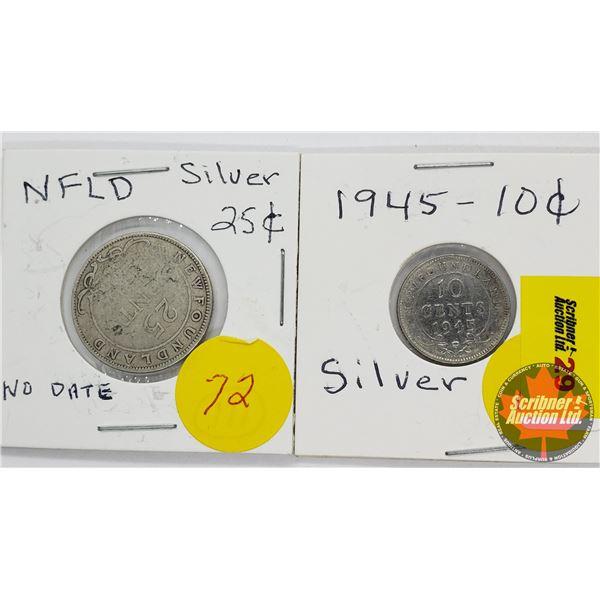 Newfoundland (2): Ten Cent 1945C ; Fifty Cent 19??