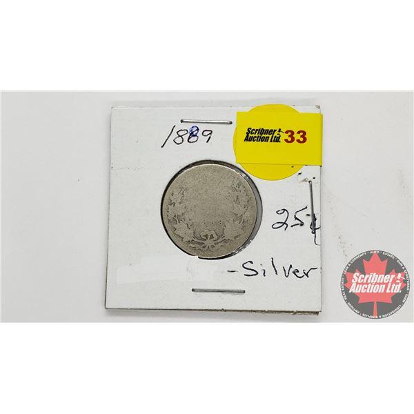 Canada Twenty Five Cent 1889
