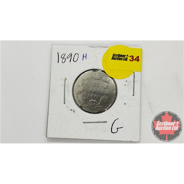 Canada Twenty Five Cent 1890H