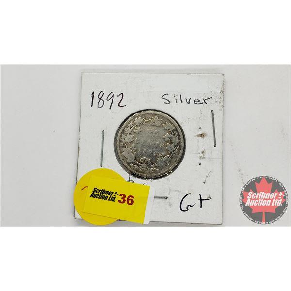 Canada Twenty Five Cent 1892