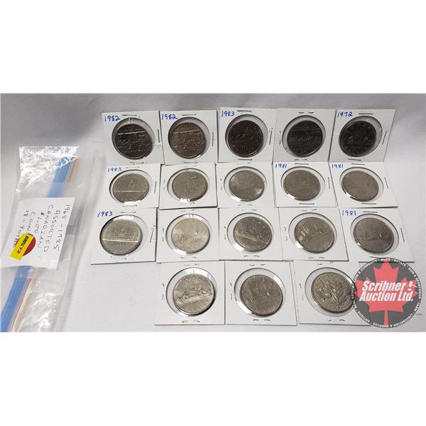 Canada One Dollar (18): 1968-1985 Assorted