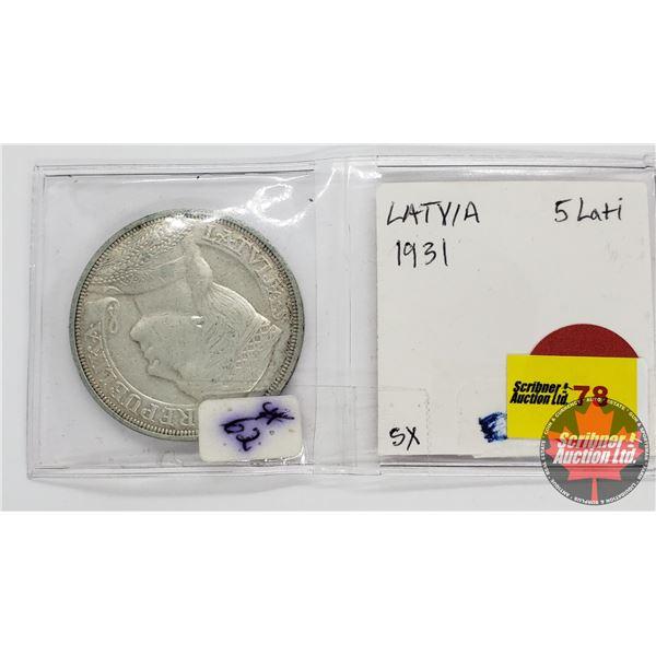 Republika Latvija 1931 Pieci Lati 5