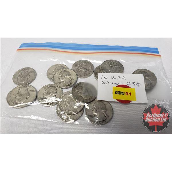 US Quarters (16): 1943 (5); 1945; 1946; 1948 (2); 1950; 1951 (2); 1952 (2); 1953; 1954