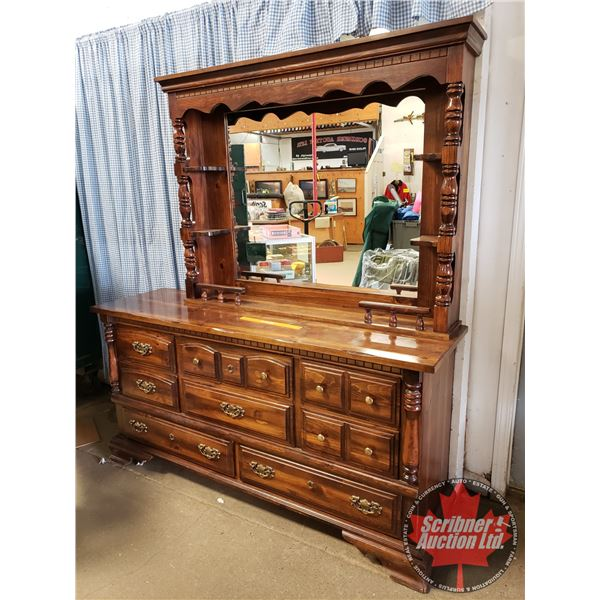 """8 Drawer Dresser with Mirror (2 Pieces) (Total 73-1/2""""H x 66""""W x 19""""D)"""
