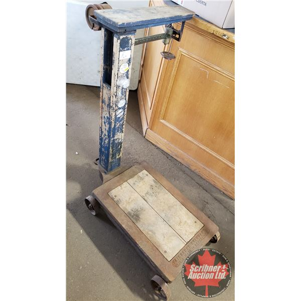 """Fairbanks Standard No. 10-1/2 Freight Scale - Made in Canada (44-1/2"""")"""