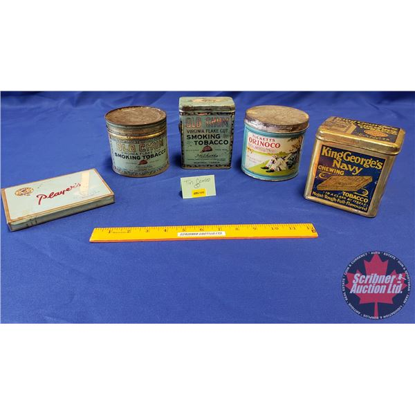 Tobacco Tin Combo: Tucketts, Orinoco, King George's Navy, Player's Old Chum (2)