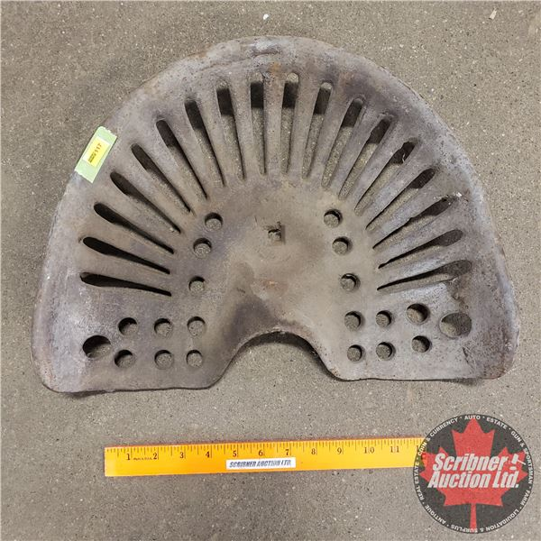 """Cast Iron Implement Seat (16"""" x 12"""")"""