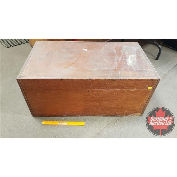 """Wood Box Trunk (14-1/2""""H x 33-1/2""""W x 19""""D)"""