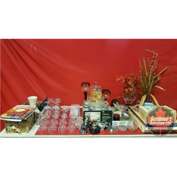 Large Collector Combo - Bulk Buy !! (Incl: Punch Bowl Set, Wine Glasses, Home Décor, Books, Serving