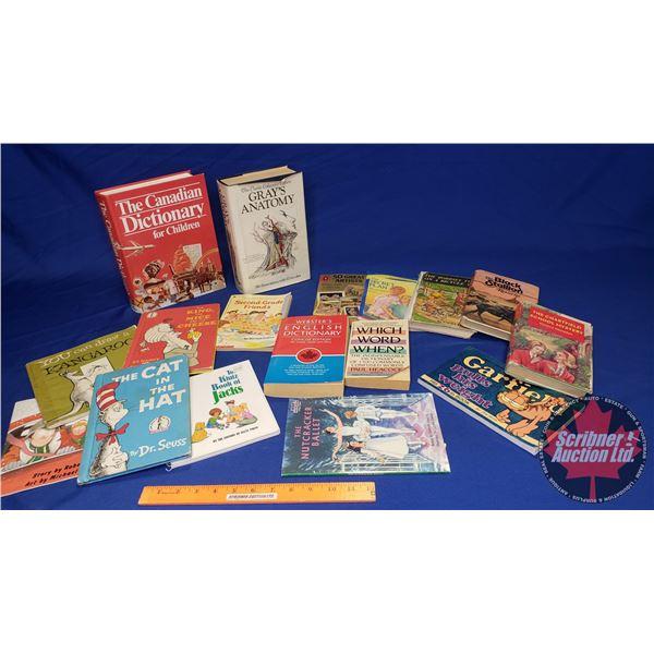 Tray Lot: Children's Novels, Dictionaries, Educational Books