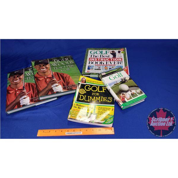 Tray Lot: Golf Books