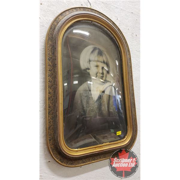 """Framed Convex Photo of Young Girl (22-1/2""""H x 14-1/2""""W)"""