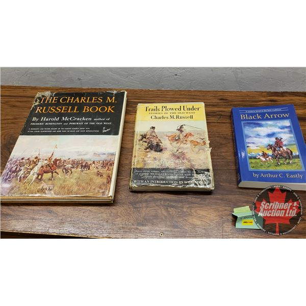 Books (3): Charles Russel (2) & Western Novel (1)