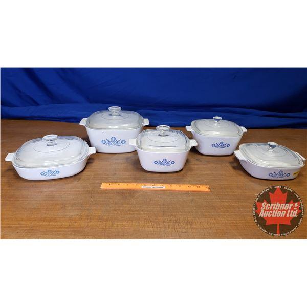 Corningware Ovensafe Dishes w/Lids (5)