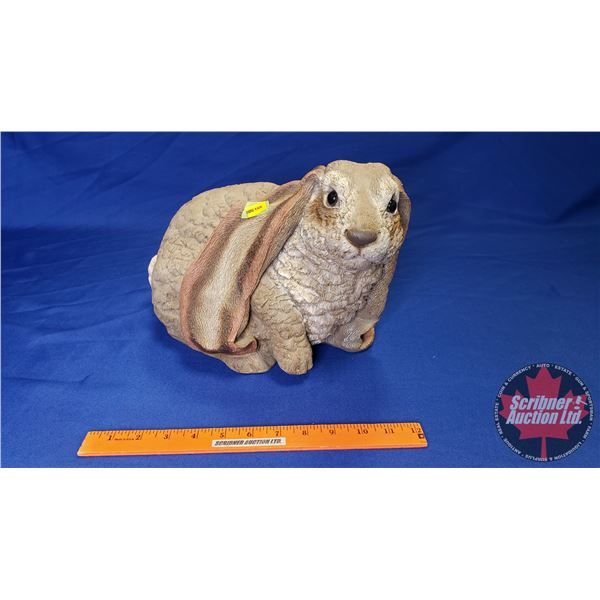 """Lifted Paw Lop Eared Rabbit Statue (9""""H)"""