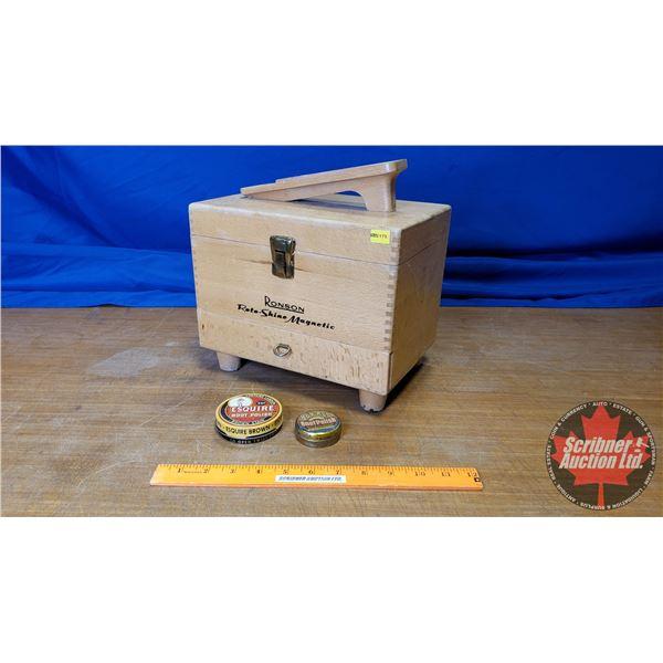 Ronson Roto-Shine Magnetic Shoe Shine Kit (w/Electric Shoe Shiner)