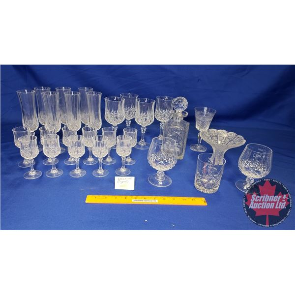 Collector Combo (Shelf Lot): Crystal (Incl. Decanter, Wine Glasses, Flutes, etc) Must See Pics!