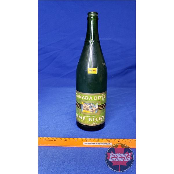 Canada Drys Sparkling Lime Ricky Gingerale Bottle 30fl oz