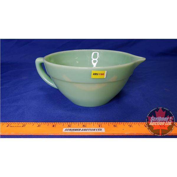 Fireking Jadeite Mixing Bowl w/Handle & Spout