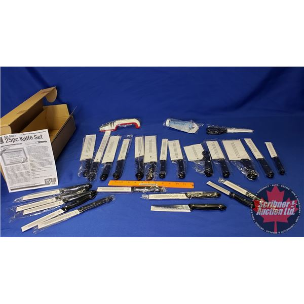 Six Star Brand Knife Set w/Sharpener & Flavour Injector (Unopened)