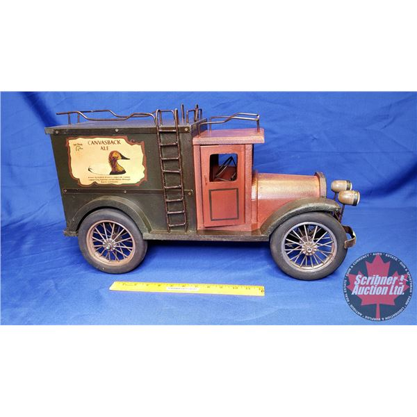 """Ducks Unlimited """"Canvas Back Ale"""" Wooden Delivery Truck (13-1/2""""H x 24""""W)"""