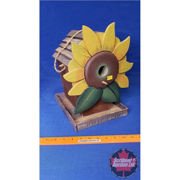 """Sunflower Bird House (12""""H)"""
