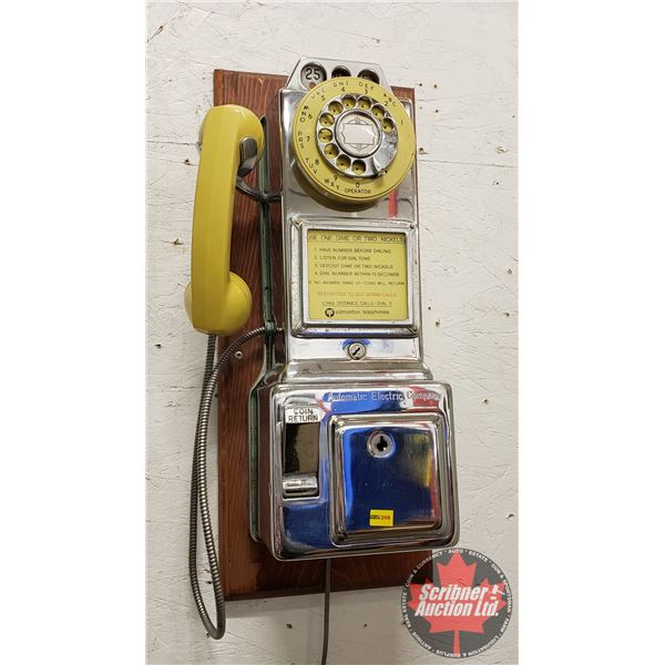 """Automatic Electric Company Rotary Pay Phone (21-1/2""""H x 9""""W)"""