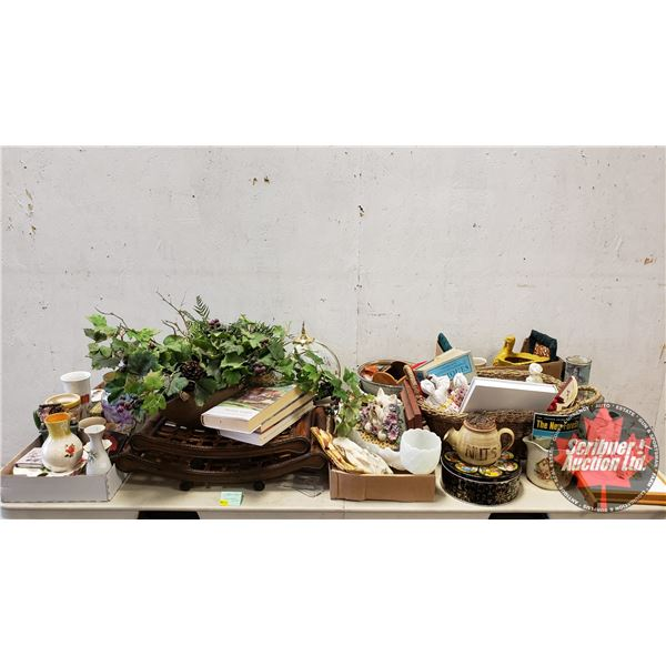 Large Collector Combo - Bulk Buy !! (Incl: Silk Plants, Books, Lamp, Mugs, Pottery, etc) Must See Pi