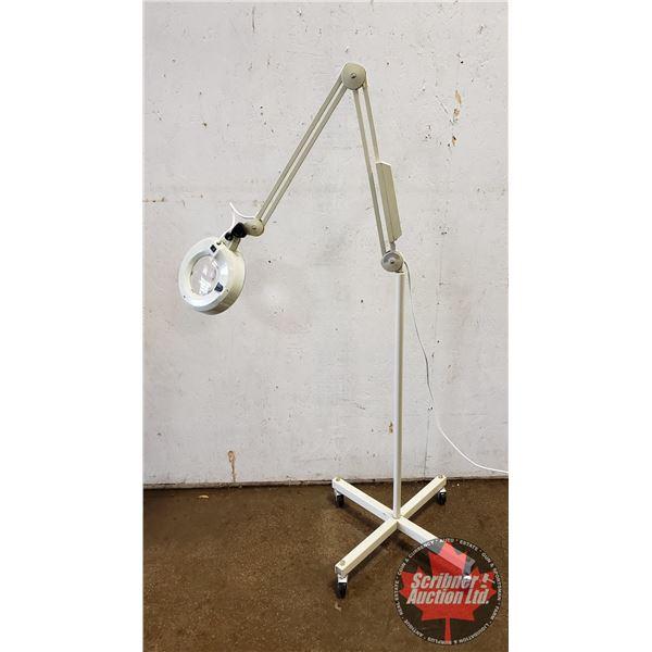 Luxo Rolling Magnifier Lamp
