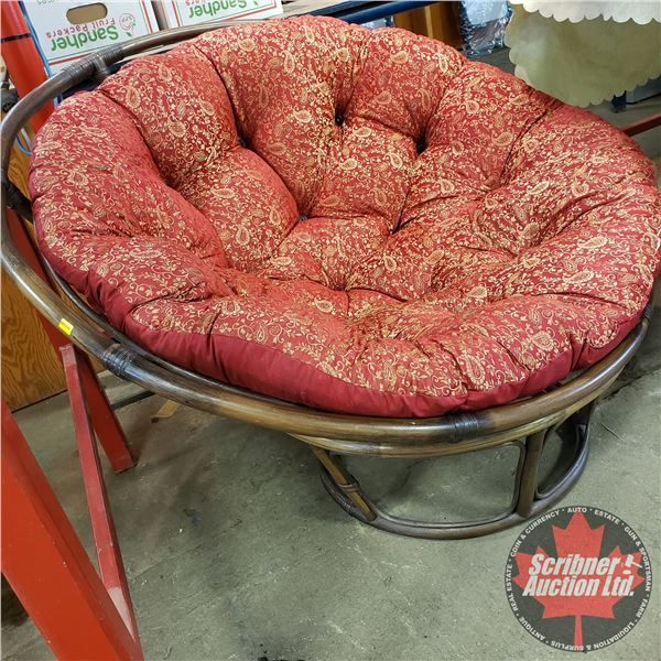 """Rattan Chair (Round / Red) (33-1/2""""H x 45"""" Dia)"""