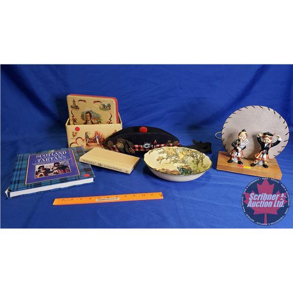 Collector Combo: Scotland Theme (Books, Lamp, Cap w/Pins, etc) See Pics!