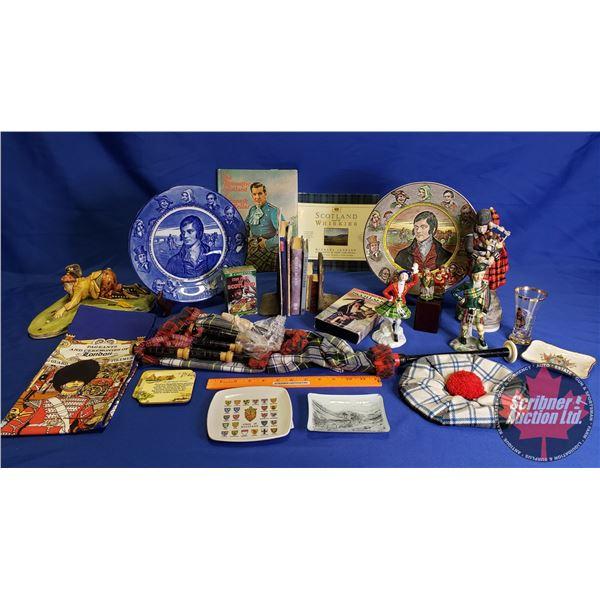 Collector Combo: Scotland Theme (Jr. Tam & Bagpipe, Plates, Books, Ornaments, etc) See Pics!