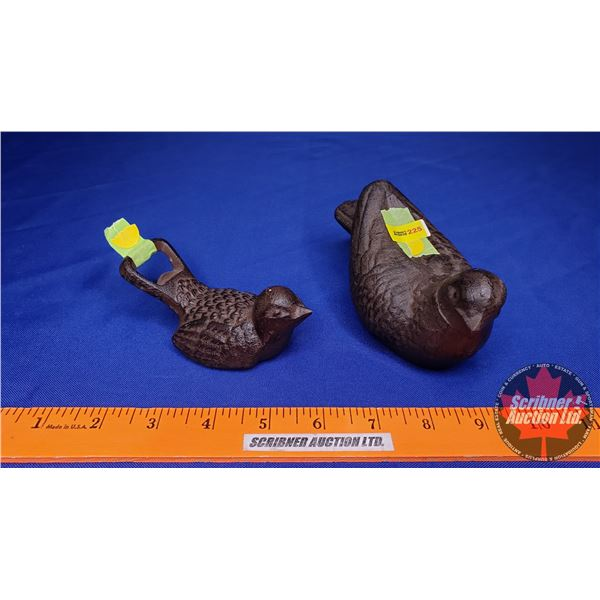 Cast Iron Birds (2): Ornament & Bottle Opener