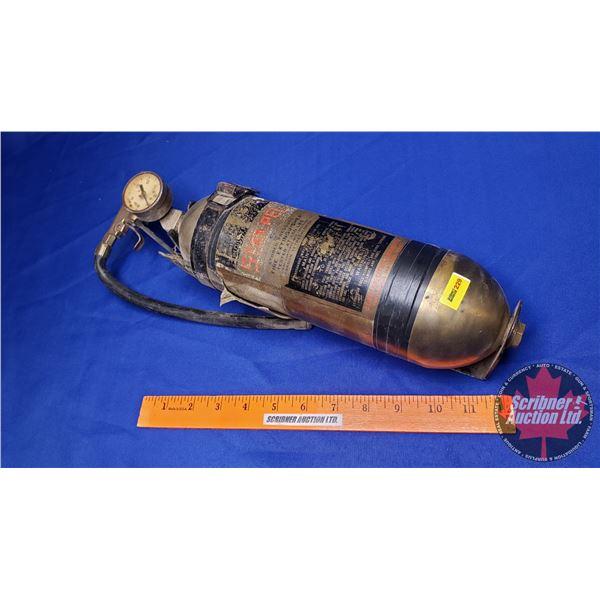 Vintage Stemple Brass Fire Extinguisher