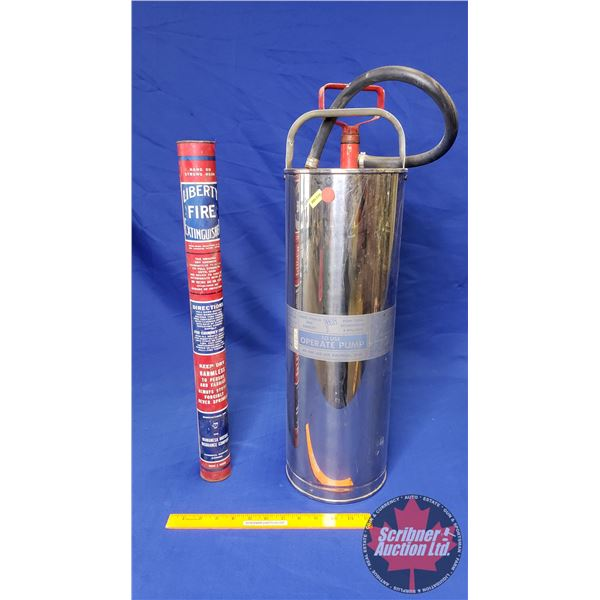 Fire Extinguisher Combo: Liberty & Flag Pump Type