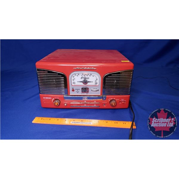 "Curtis Classic AM/FM Radio/CD Player & Record Player (7""H x 12""W x 12""D)"
